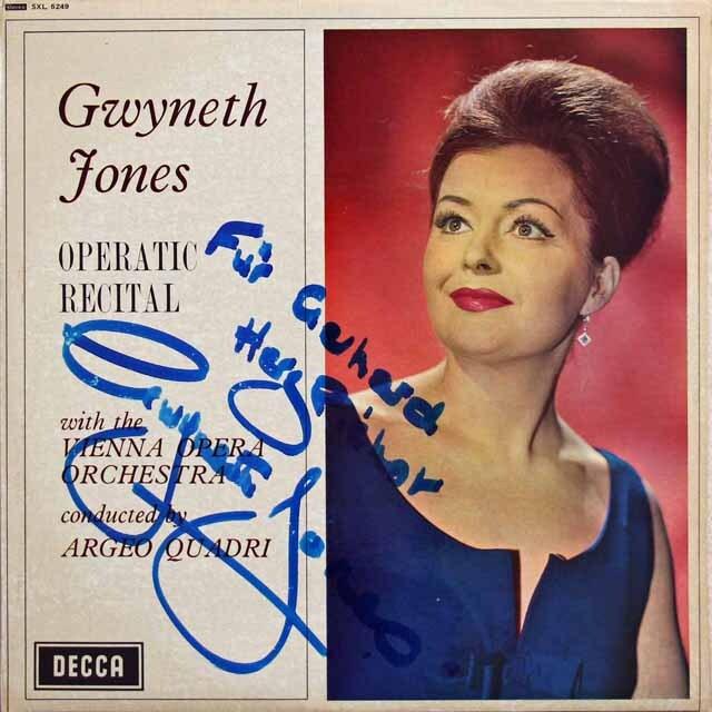 【直筆サイン入り】 ジョーンズ/オペラリサイタル 英DECCA 3229 LP レコード