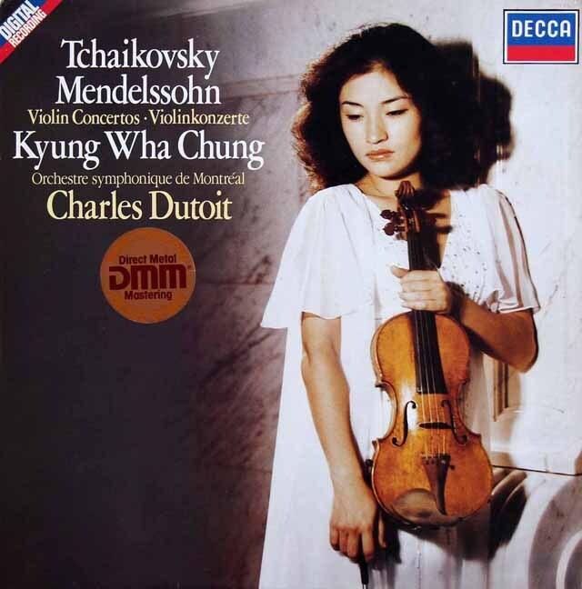 チョン&デュトワのチャイコフスキー&メンデルスゾーン/ヴァイオリン協奏曲 独DECCA 3229 LP レコード
