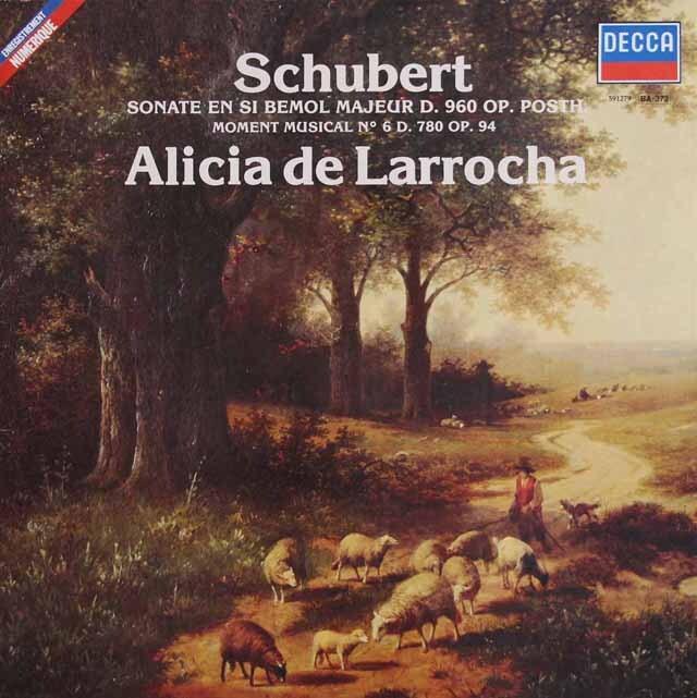ラローチャのシューベルト/ピアノソナタ第21番ほか 仏DECCA 3229 LP レコード