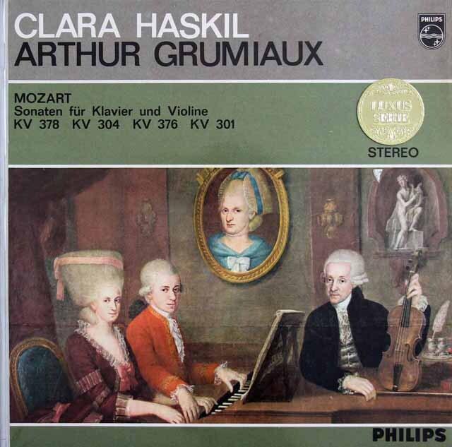 グリュミオー&ハスキルのモーツァルト/ヴァイオリンソナタ集 蘭PHILIPS 3229 LP レコード
