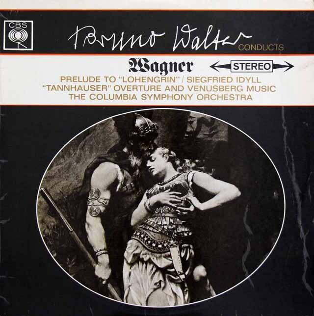 ワルターのワーグナー/管弦楽曲集(「ローエングリン」、「ジークフリート」、「タンホイザー」からの音楽) 英CBS 3229 LP レコード