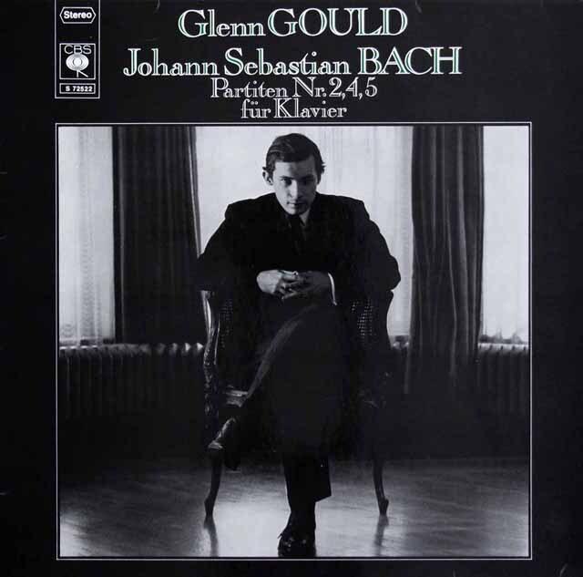 グールドのバッハ/パルティータ第2、4、5番 独CBS 3229 LP レコード