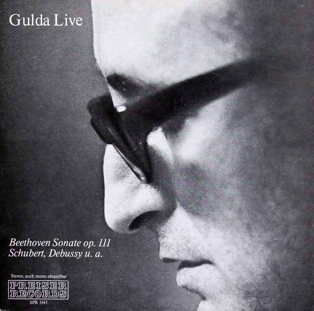 グルダライヴ ベートーヴェン/ピアノソナタ第32番ほか オーストリアPREISER RECORDS 3229 LP レコード