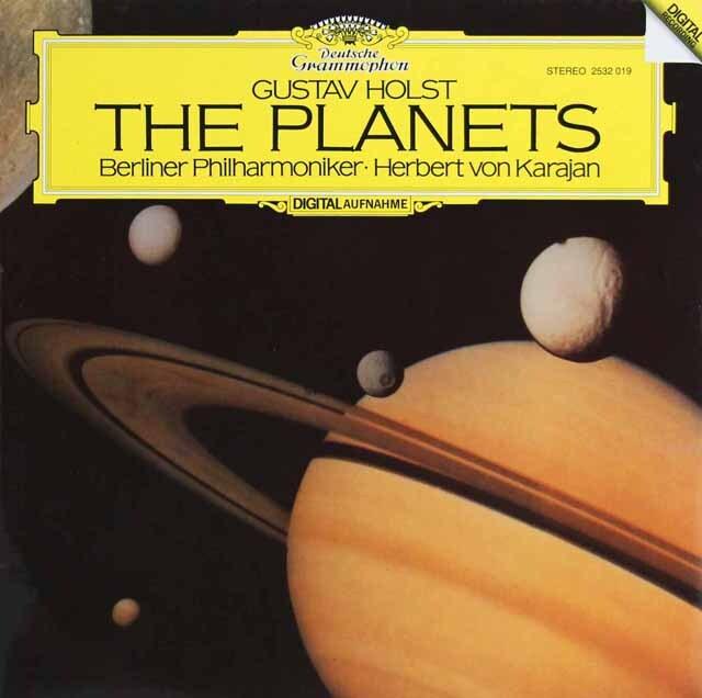 カラヤンのホルスト/組曲「惑星」 独DGG 3230 LP レコード