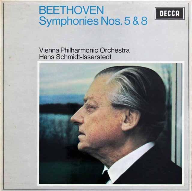 【オリジナル盤】 イッセルシュテットのベートーヴェン/交響曲第5 & 8番 英DECCA 3230 LP レコード