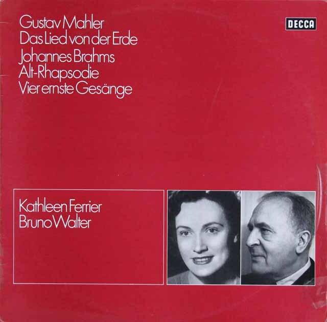 ワルター&フェリアのマーラー/「大地の歌」ほか 独DECCA 3230 LP レコード