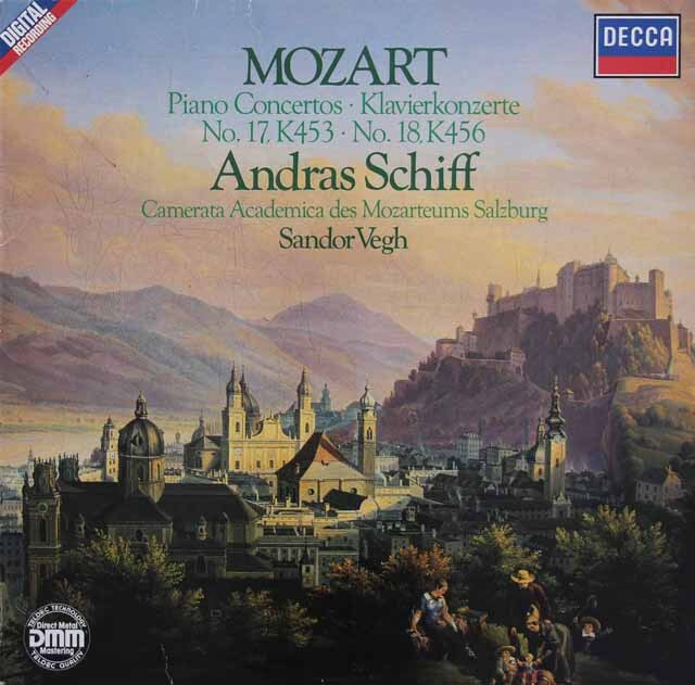 シフ&ヴェーグのモーツァルト/ピアノ協奏曲第17&18番 独DECCA 3230 LP レコード