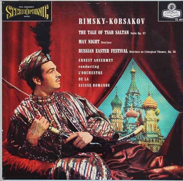 【ブルー・バック・ジャケット】 アンセルメのリムスキー=コルサコフ/「サルタン皇帝の物語」組曲ほか 英LONDON 3230 LP レコード