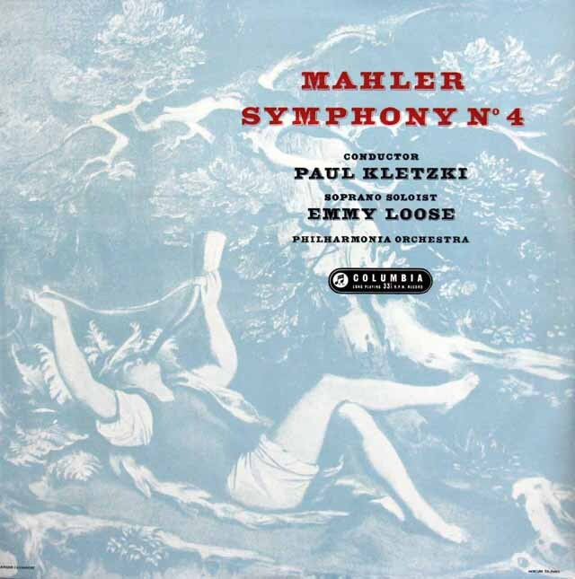 【モノラル】 クレツキのマーラー/交響曲第4番 英columbia 3230 LP レコード