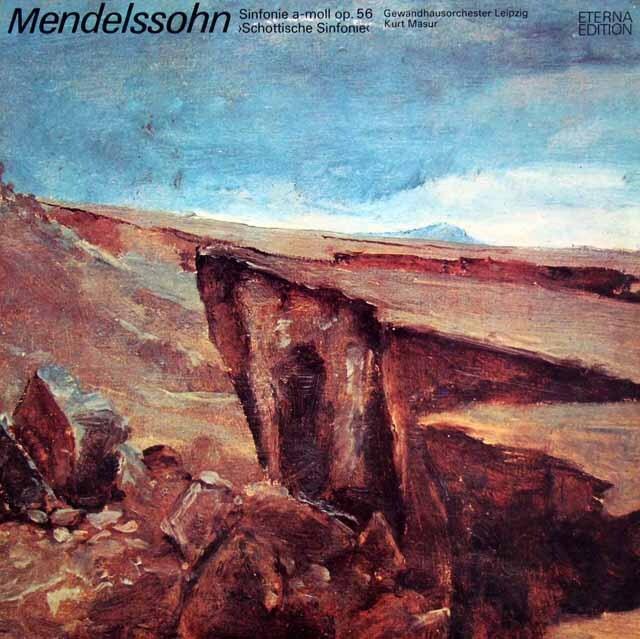 マズアのメンデルスゾーン/交響曲第3番「スコットランド」 独ETERNA 3230 LP レコード