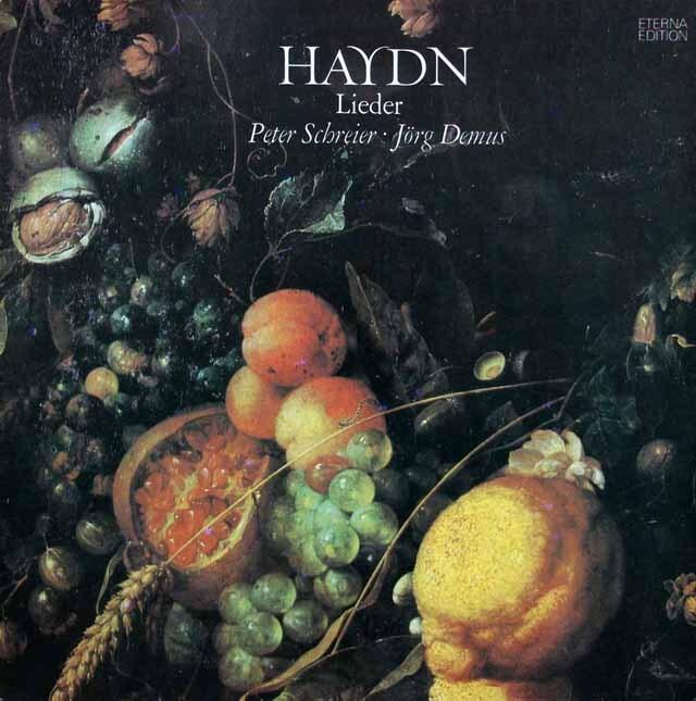 シュライアー&デームスのハイドン/歌曲集 独ETERNA 3230 LP レコード