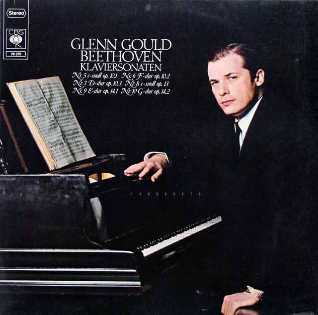 グールドのベートーヴェン/ピアノソナタ第5番~第10番 独CBS 3230 LP レコード