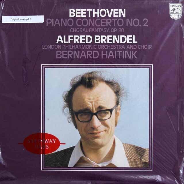【未開封】 ブレンデル&ハイティンクのベートーヴェン/ピアノ協奏曲第2番&合唱幻想曲 蘭PHILIPS 3230 LP レコード