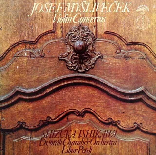 石川&ペシェクのミスリヴェチェク/ヴァイオリン協奏曲集 チェコスロヴァキアSUPRAPHON 3230 LP レコード