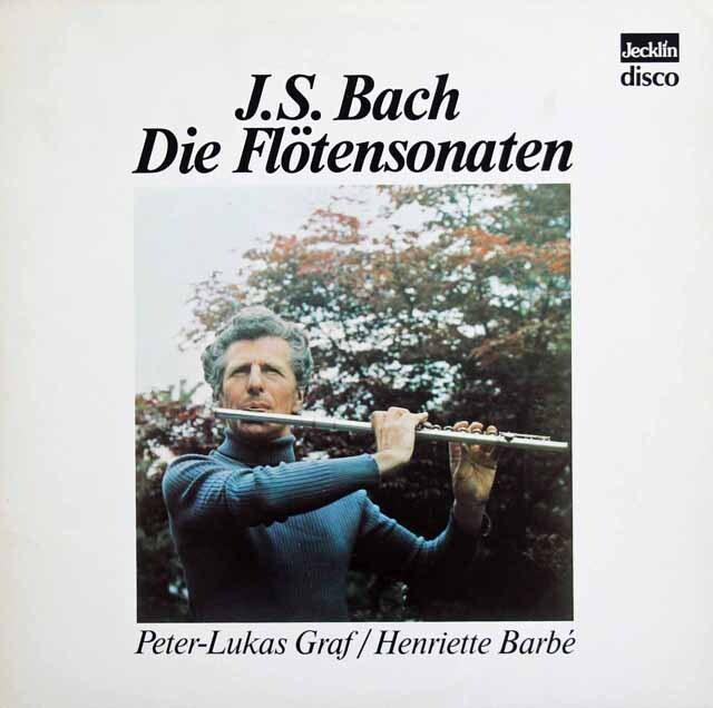 グラーフ、バルべ&コッホのバッハ/フルート・ソナタ集 スイスJecklin 3230 LP レコード