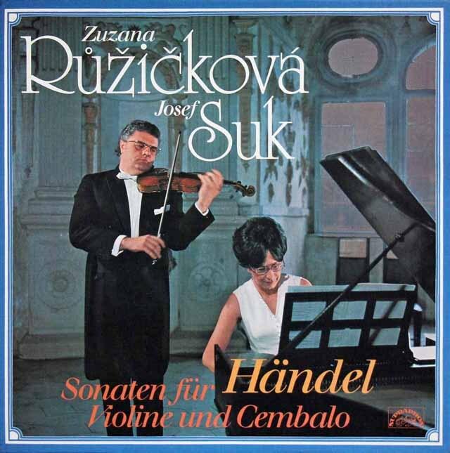 スーク&ルージイッチコヴァのヘンデル/ヴァイオリンとチェンバロのためのソナタ集 チェコスロヴァキアSUPRAPHON 3230 LP レコード