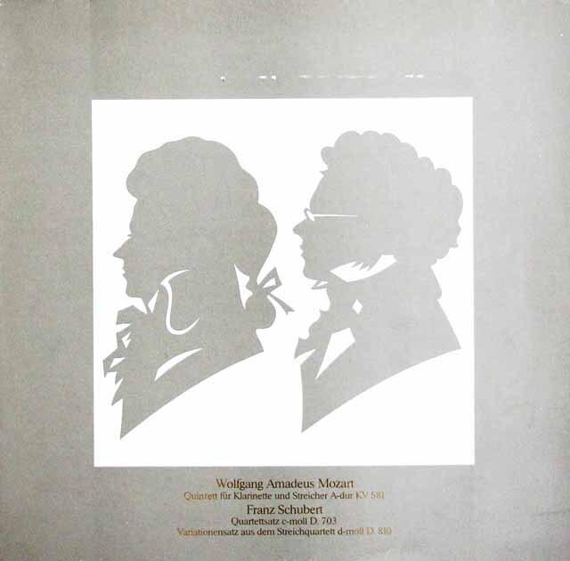 アマデウス四重奏団のシューベルト/弦楽四重奏曲第12&14番ほか 独Gerling-Konzern非売品 3231 LP レコード