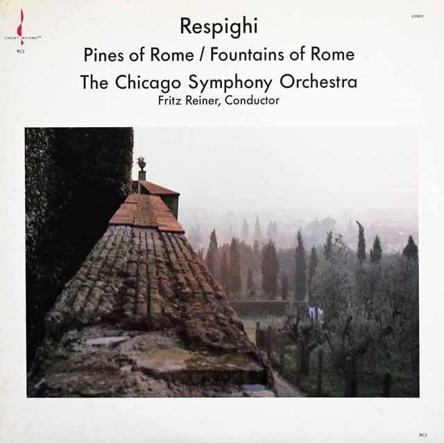 ライナーのレスピーギ/「ローマの松」「ローマの泉」 米CHESKY RECORDS 3231 LP レコード