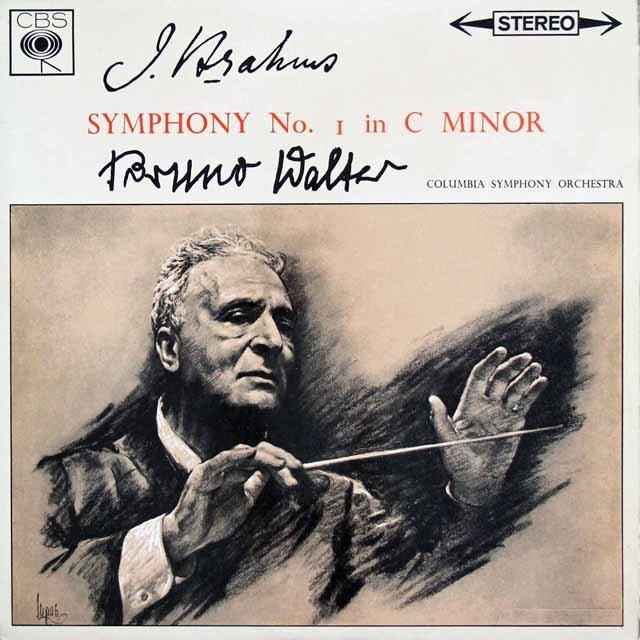 ワルターのブラームス/交響曲第1番 英CBS 3231 LP レコード