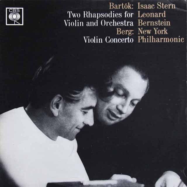 スターン&バーンスタインのベルク/ヴァイオリン協奏曲 英CBS 3231 LP レコード