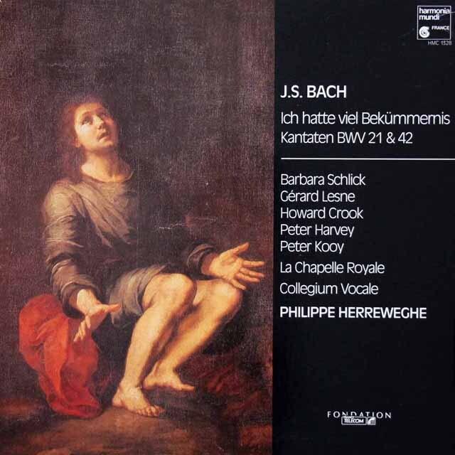 ヘレヴェッヘのバッハ/カンタータ BWV21 & BWV42 独HM 3231 LP レコード