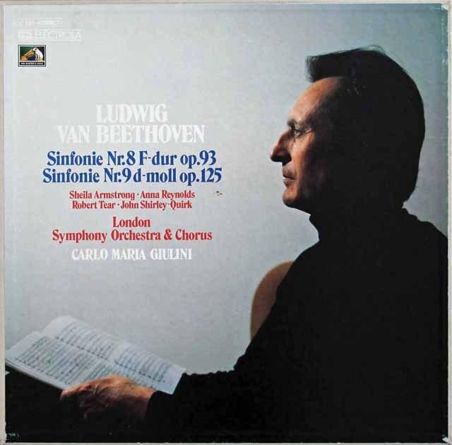 ジュリーニのベートーヴェン/交響曲第8&9番 独EMI 3231 LP レコード