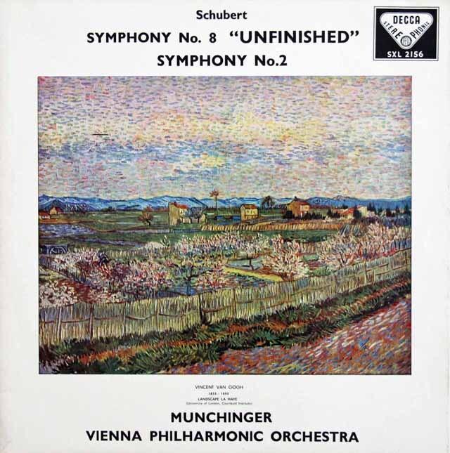 【オリジナル盤】 ミュンヒンガーのシューベルト/交響曲第2&8番「未完成」 英DECCA 3231 LP レコード