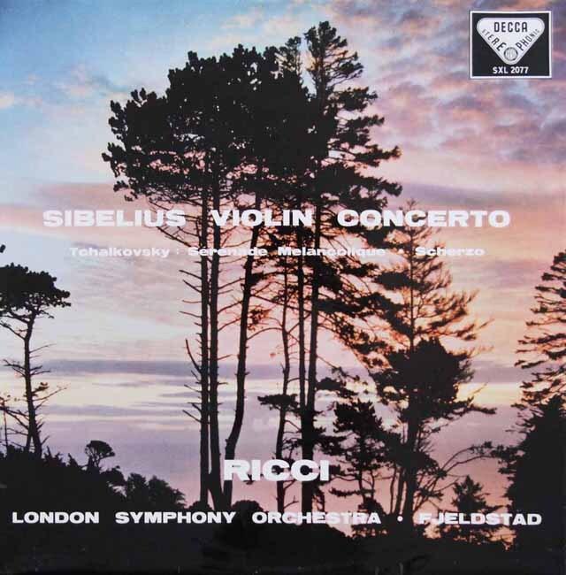 【オリジナル盤】 リッチのシベリウス/ヴァイオリン協奏曲ほか 英DECCA 3231 LP レコード