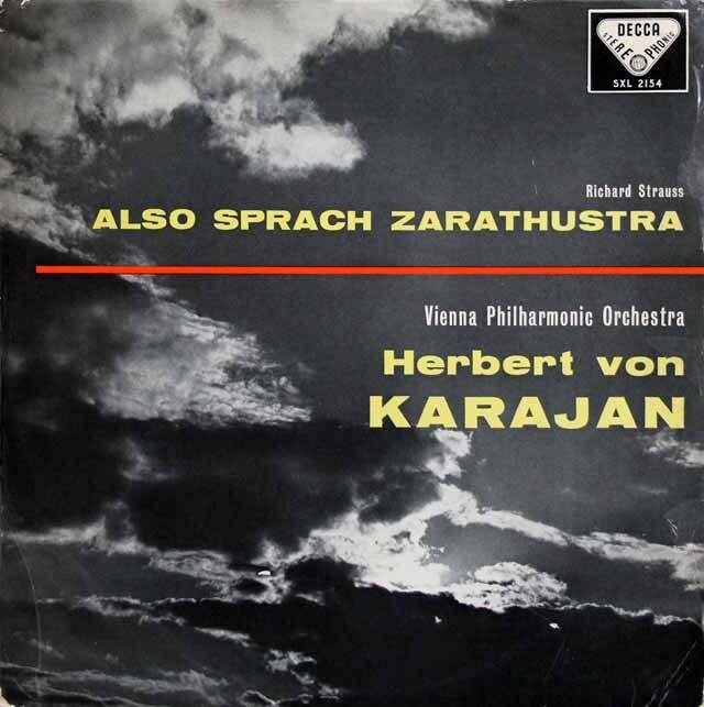 【オリジナル盤】 カラヤンのR.シュトラウス/交響詩「ツァラトゥストラはかく語りき」 英DECCA 3231 LP レコード