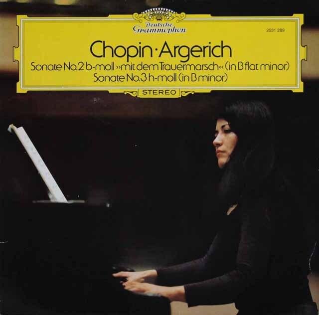 アルゲリッチのショパン/ピアノ・ソナタ第2番「葬送」&第3番 独DGG 3231 LP レコード