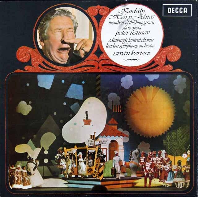 ケルテスのコダーイ/歌劇「ハーリ・ヤノーシュ」全曲  英DECCA 3232 LP レコード