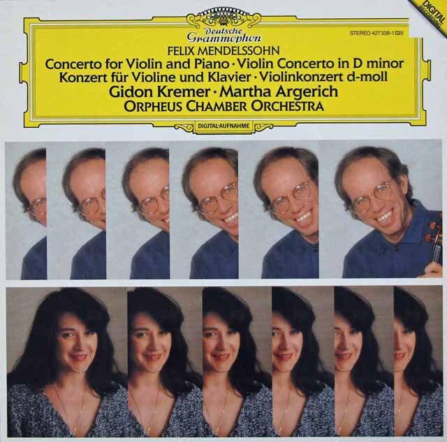 クレーメル&アルゲリッチのメンデルスゾーン/ヴァイオリンとピアノのための二重協奏曲ほか 独DGG 3232 LP レコード