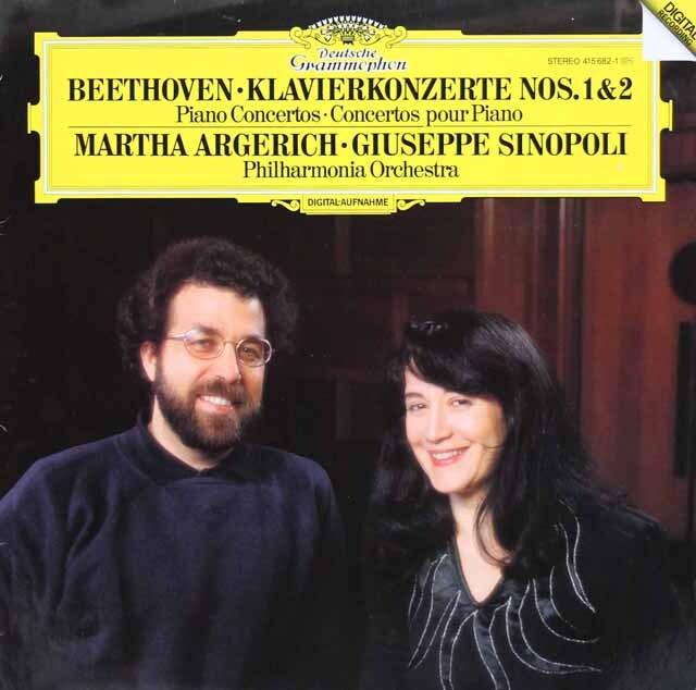 アルゲリッチ&シノーポリのベートーヴェン/ピアノ協奏曲第1&2番 独DGG 3232 LP レコード