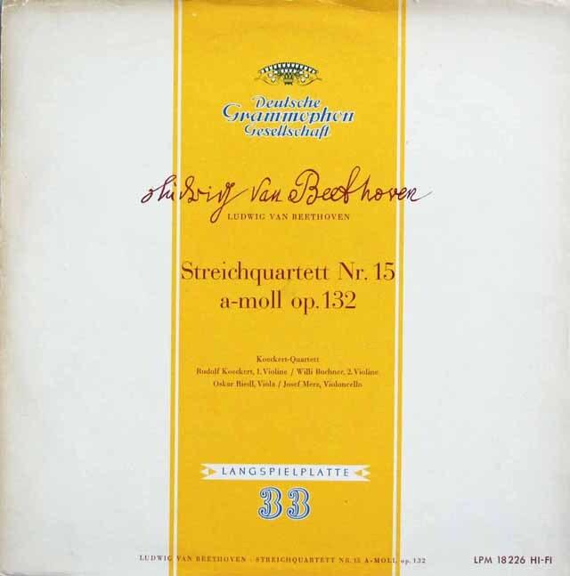 ケッケルト四重奏団のベートーヴェン/弦楽四重奏曲第15番  独DGG 3232 LP レコード