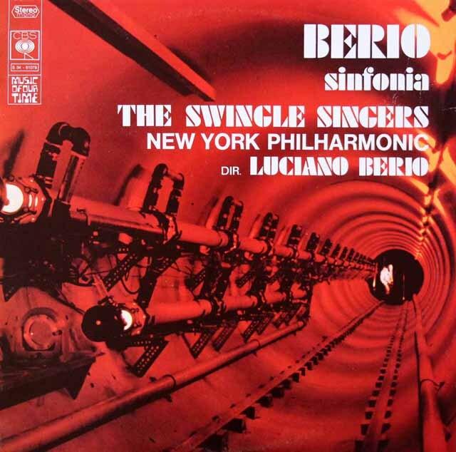ベリオ自作自演/シンフォニア 仏CBS 3270 LP レコード