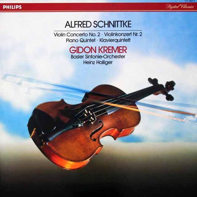 ホリガー&クレーメルのシュニトケ/ヴァイオリン協奏曲第2番ほか  蘭PHILIPS 3270 LP レコード
