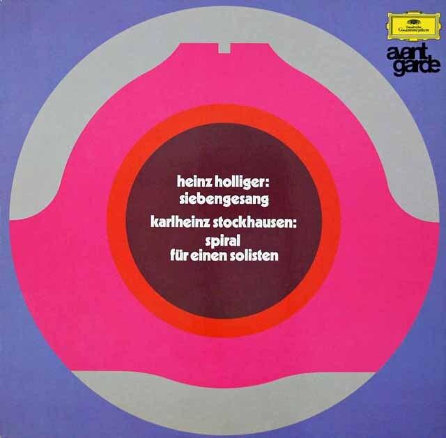 ホリガー/「七つの歌」、シュトックハウゼン/「螺旋」 独DGG 3270 LP レコード