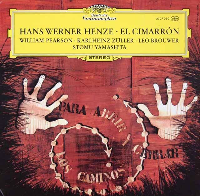 ヘンツェの自作自演/「エル・シマロン」 独DGG 3270 LP レコード