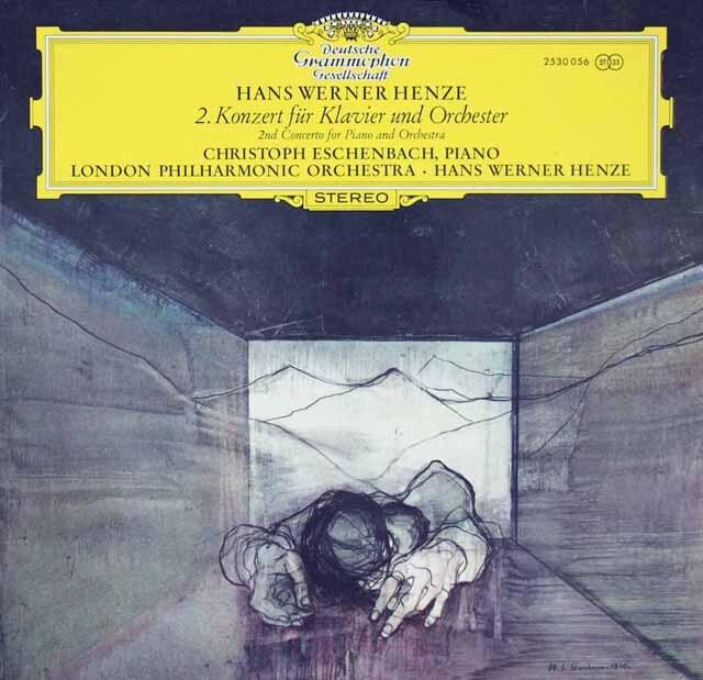エシェンバッハ&ヘンツェのヘンツェ/ピアノ協奏曲第2番 独DGG    3270 LP レコード