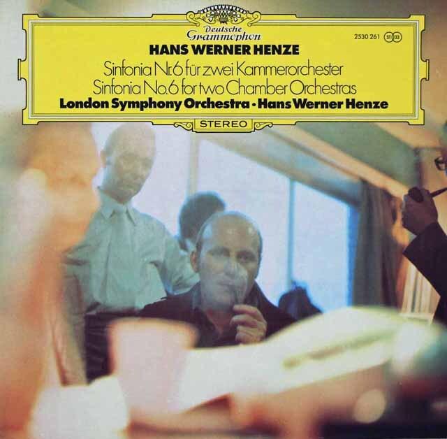 ヘンツェの自作自演/交響曲第6番 独DGG   3270 LP レコード