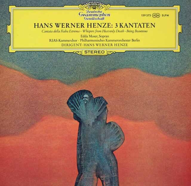 ヘンツェの自作自演/カンタータ3曲集 独DGG 3270 LP レコード