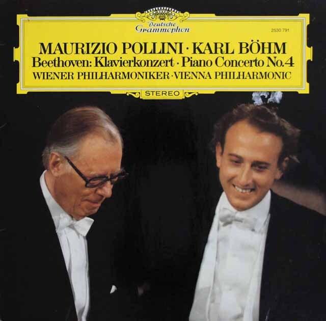 ポリーニ&ベームのベートーヴェン/ピアノ協奏曲第4番 独DGG 3301 LP レコード