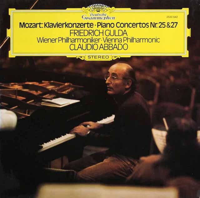 グルダ&アバドのモーツァルト/ピアノ協奏曲第25&27番 独DGG 3301 LP レコード