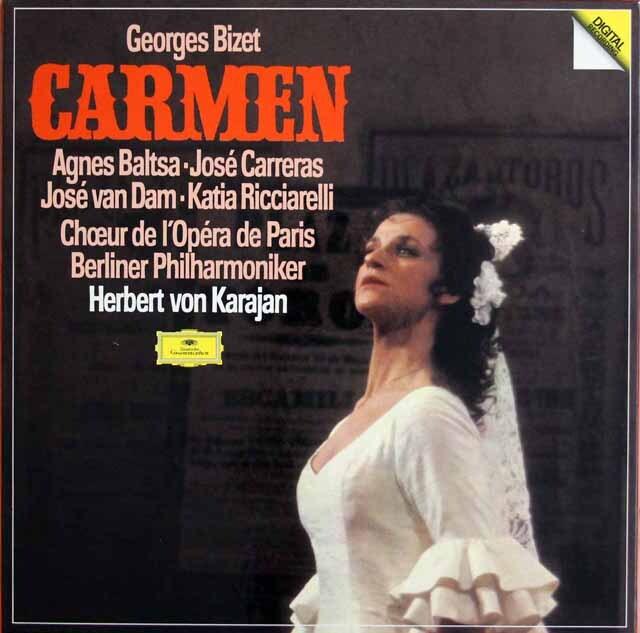 カラヤンのビゼー/歌劇「カルメン」全曲 独DGG 3301 LP レコード