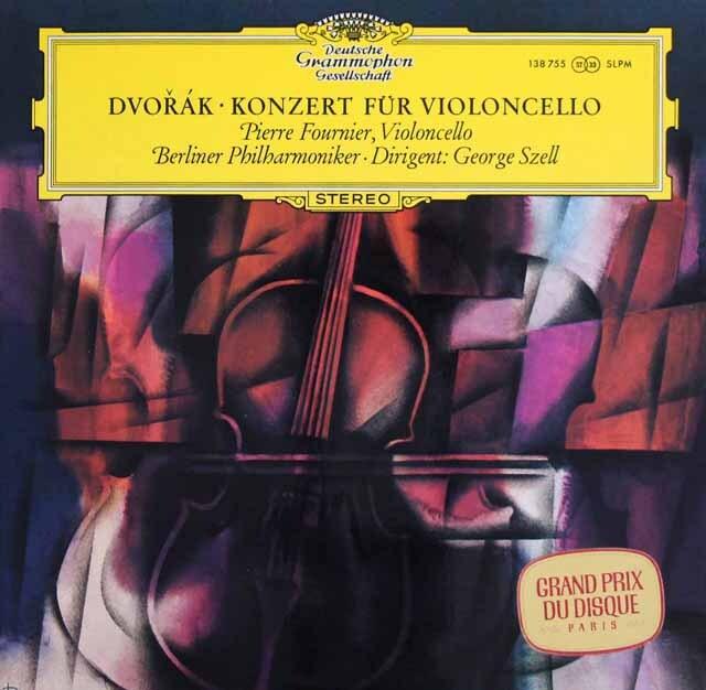 フルニエ&セルのドヴォルザーク/チェロ協奏曲  独DGG 3301 LP レコード
