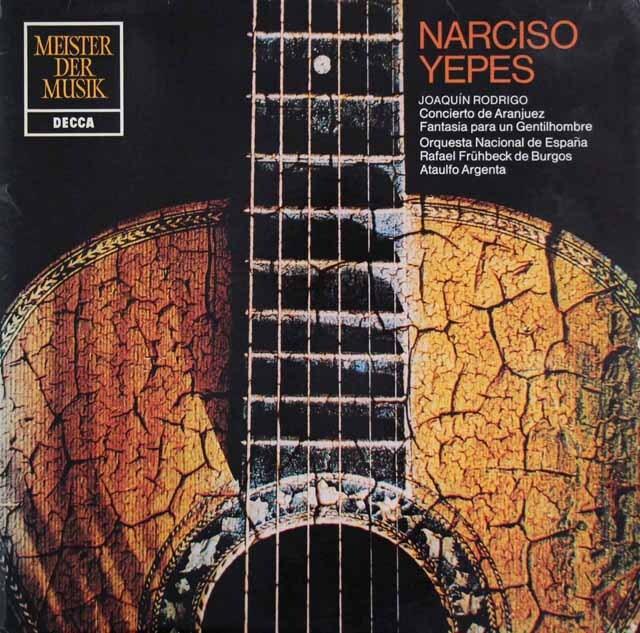 イエペス&アルヘンタのロドリーゴ/アランフェス協奏曲ほか 独DECCA 3301 LP レコード