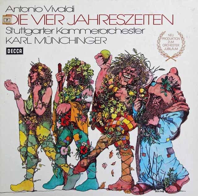 ミュンヒンガーのヴィヴァルディ/「四季」 独DECCA 3301 LP レコード