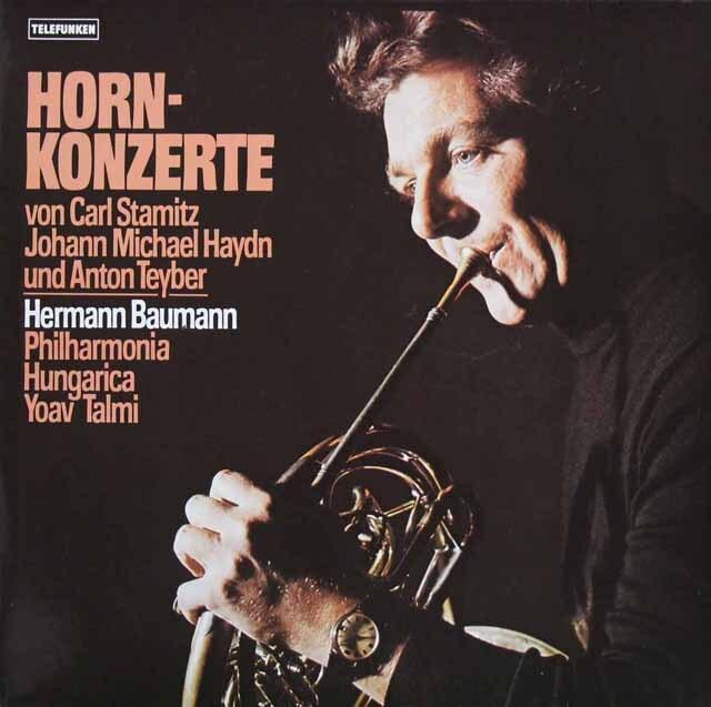 【直筆サイン入り】 バウマンのシュターミッツ/ホルン協奏曲ほか 独TELEFUNKEN 3301 LP レコード