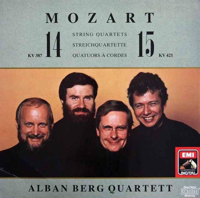 アルバン・ベルク四重奏団のモーツァルト/弦楽四重奏曲第14&15番 独EMI 3301 LP レコード