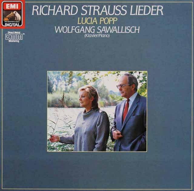 ポップ&サヴァリッシュのR.シュトラウス歌曲集 独EMI 3301 LP レコード